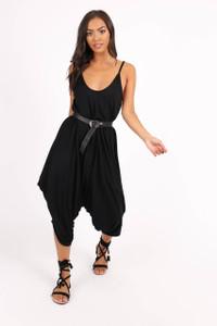 Black Harem Style Jumpsuit