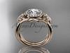 14kt rose gold celtic trinity knot engagement set, wedding ring CT789S