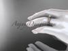 14kt rose gold diamond unique engagement ring, wedding ring ADER116