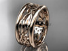 14kt rose gold celtic trinity knot  engagement ring CT7511G