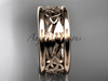 14kt rose gold celtic trinity knot wedding band, engagement  ring CT7511G