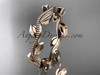 Leaf Engagement Ring Without Diamonds Rose Gold ADLR4G