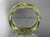 14k yellow gold flower wedding ring,engagement ring, wedding band ADLR190G
