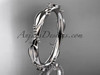 14k white gold ring design for female without stone engagement ring, wedding band ADLR178B
