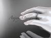 14k white gold engagement ring, wedding band ADLR178B