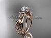 Rose Gold Celtic Triquetra Engagement Ring CT7216