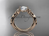 14kt rose gold celtic trinity knot  wedding ring, engagement ring  CT7216