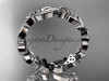 platinum celtic trinity knot wedding band, engagement ring CT7191B