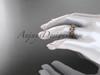 14kt rose gold leaf wedding ring, engagement ring, wedding band ADLR316G