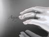 14kt rose gold diamond unique engagement ring, wedding ring ADER145