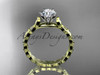 14k yellow gold diamond vine and leaf wedding ring, engagement ring ADLR35