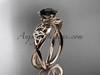 Celtic Black Diamond Rose Gold Wedding Ring CT770