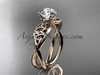 Trinity Celtic Engagement Ring - 14kt Rose Gold Ring CT770