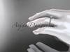 "14k rose gold diamond vine and leaf wedding ring, engagement ring with  ""Forever One"" Moissanite center stone ADLR34"