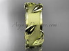14kt yellow gold leaf and vine wedding band, engagement ring ADLR252G