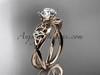 Celtic Bridal Ring - Moissanite Rose Gold Ring CT770
