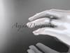 14kt white gold diamond leaf wedding ring, engagement ring ADLR21