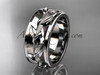 Ring Designs for Female in White Gold Wedding Band ADLR417G