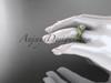 14kt yellow gold celtic trinity knot engagement ring ,diamond wedding ring CT785