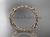 14k rose gold rope celtic trinity knot wedding band RPCT9356G