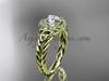 14k yellow  gold halo rope moissanite wedding ring RPCT9131