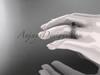 14kt white gold diamond vine round tahitian black cultured pearl engagement set ABP34S