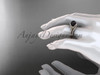 Black Cultured Pearl Celtic Wedding Set 14kt Rose Gold Diamond Irish Trinity Knot Engagement Ring CTBP7317S
