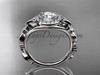 Butterfly Engagement Ring Platinum Moissanite Wedding Ring ADLR525