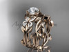 Butterfly Bridal Sets - Rose Gold Diamond Ring ADLR526S