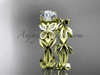Unique Butterfly Bridal Set 14k yellow gold Modern Engagement Rings ADLR526S