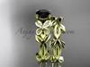 Black Diamond Butterfly Wedding Set 14k yellow gold Modern Bridal Rings ADLR526S