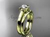 Beautiful Wedding Ring Set Yellow Gold Vintage Ring VD10016S