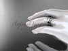 Beautiful Wedding Ring Set 14kt White Gold Black Diamond Engagement Rings VD10016S