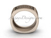 Square matte gold wedding band, 14Kt Rose gold celtic bridal ring CT7604G