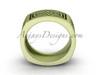 Matte gold wedding band, 14Kt Yellow gold celtic bridal ring CT7604G