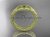 Celtic matte finish wedding band, 14kt Yellow gold rope ring RPCT9603G
