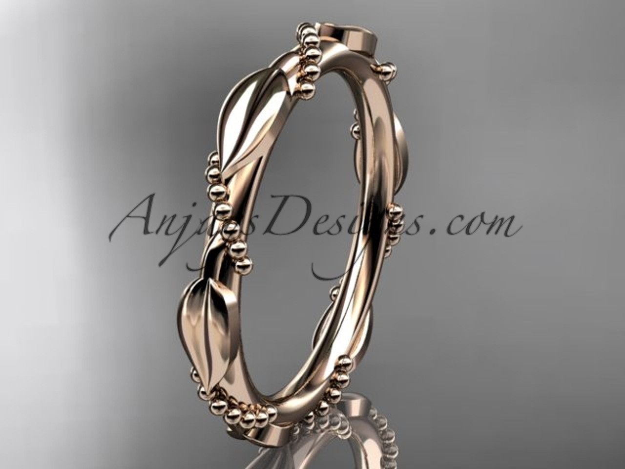 Womens Wedding Bands Rose Gold Engagement Ring ADLR178B