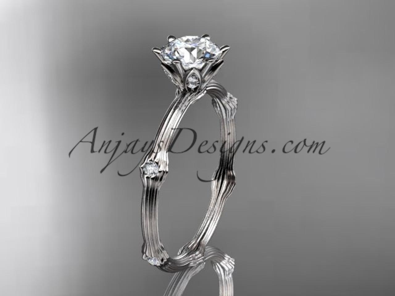 Vine Engagement Ring White Gold Diamond Ring Adlr38