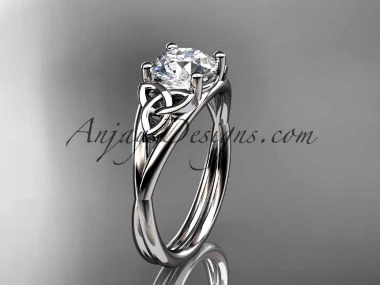 platinum celtic trinity knot wedding ring engagement ring