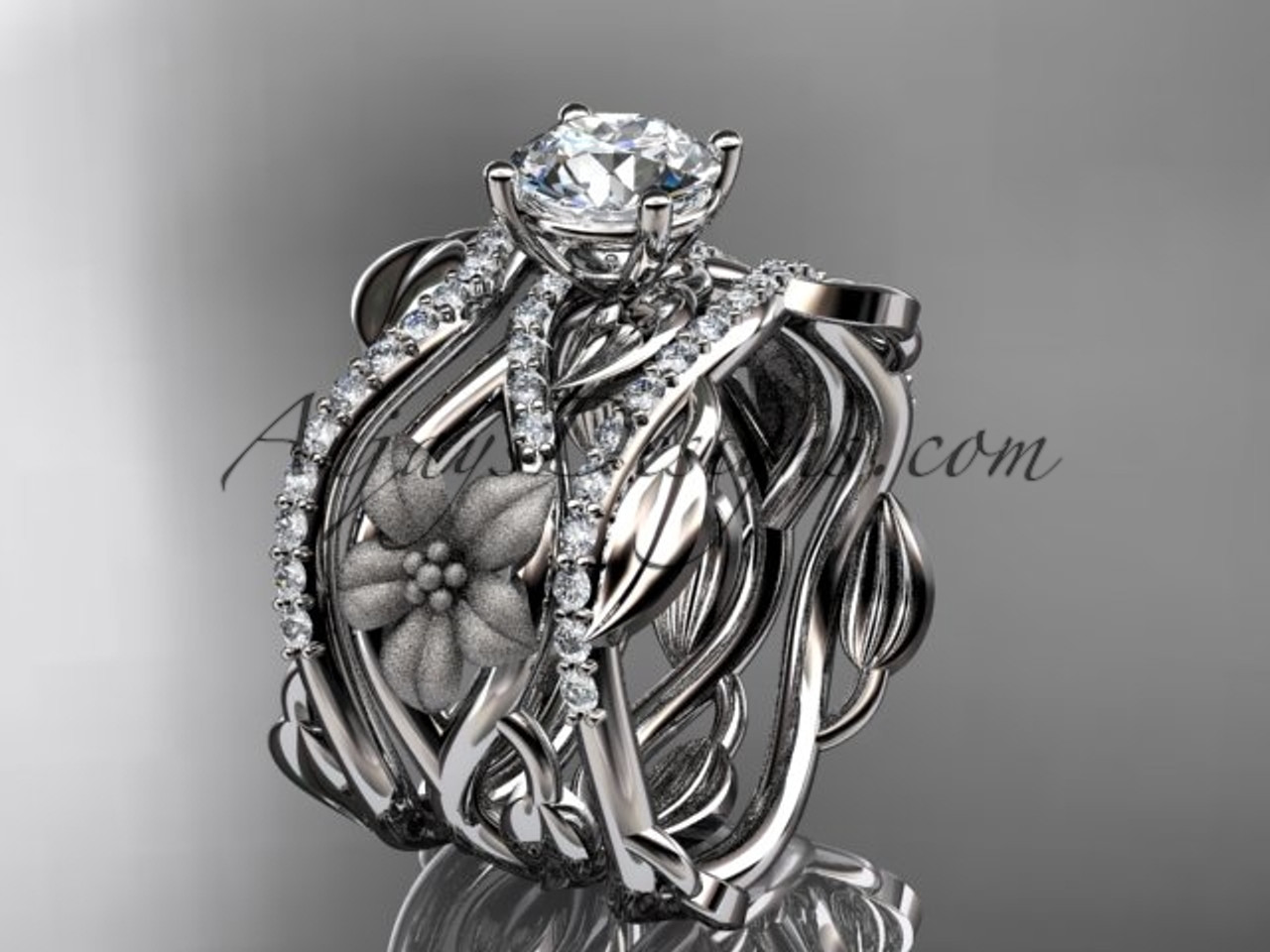 centre stage this engagement takes ring by gold rose durham floral tourmaline nature inspired and rings platinum imressive