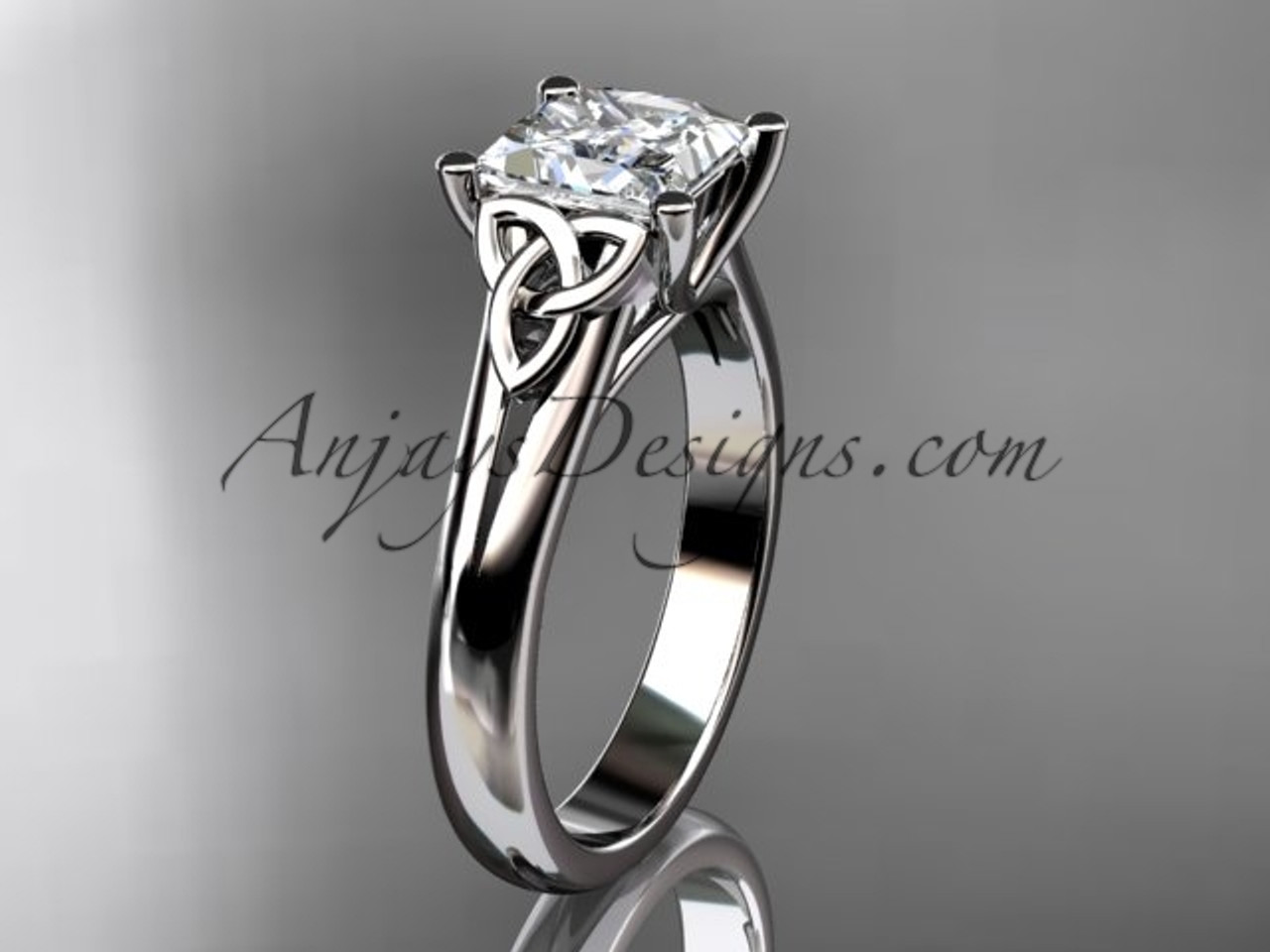 platinum diamond celtic trinity knot engagement ring ...