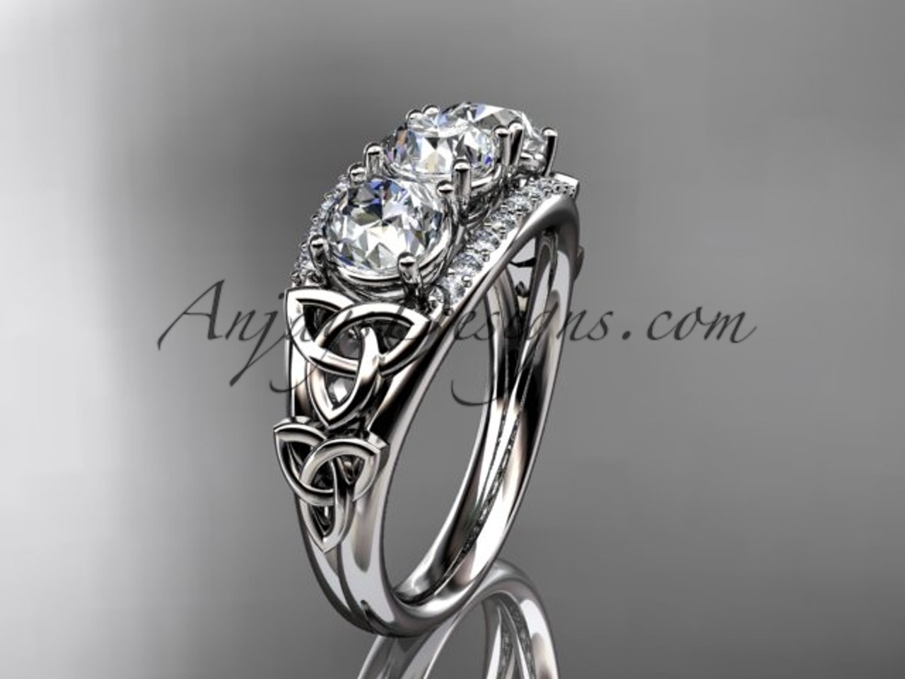 celtic wedding diamond engagement moissanite knot platinum rings ring forever white gold brilliant trinity