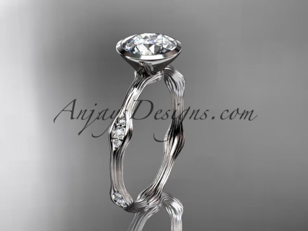 platinum diamond vine wedding ring engagement ring