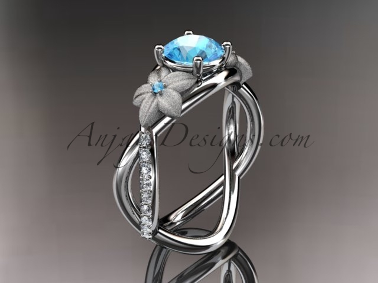 aquamarine sapphire sapphires gold wedding round december with white and rings ring htm birthstone pear in