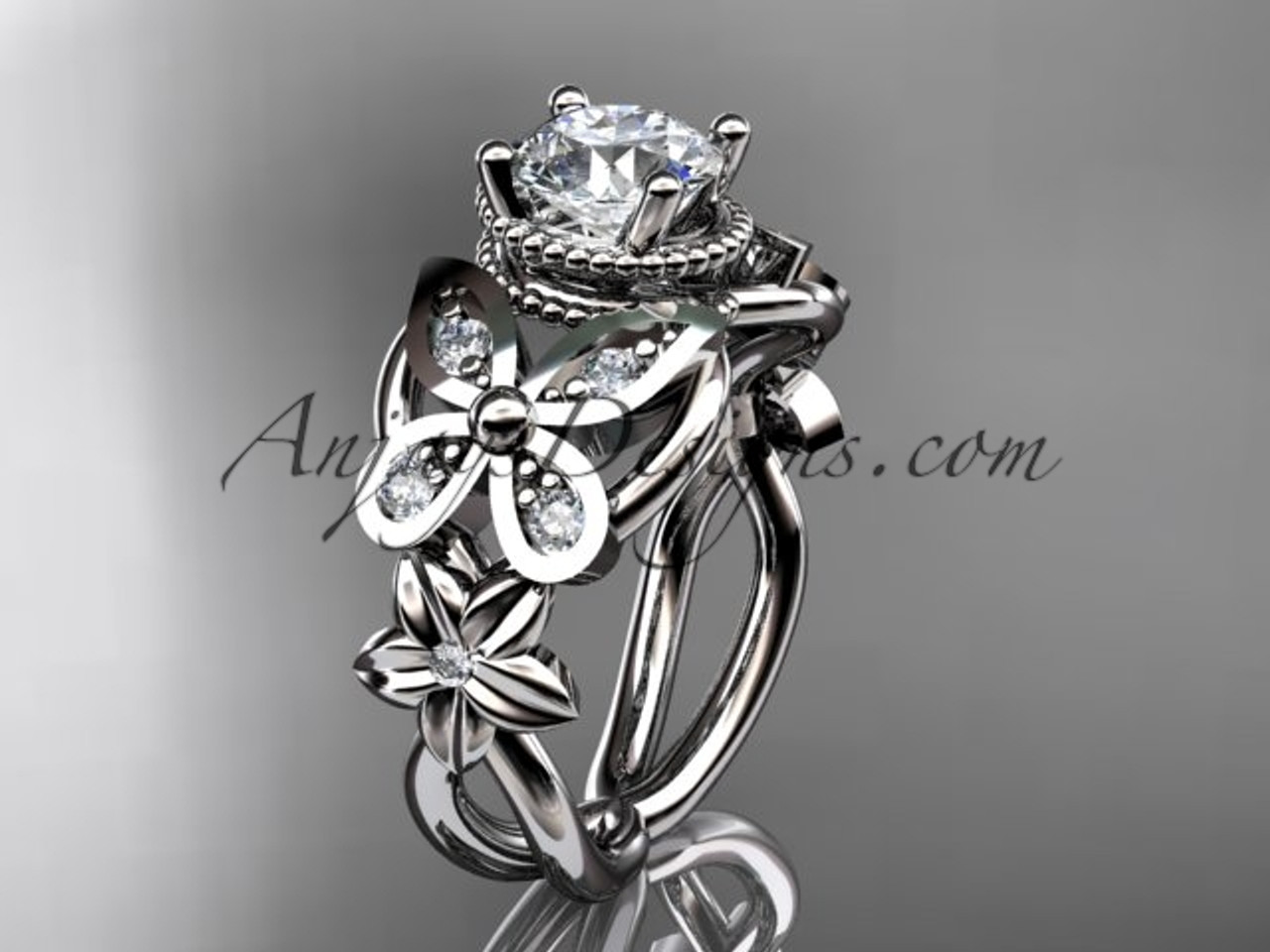 Butterfly Wedding Ring Forever One