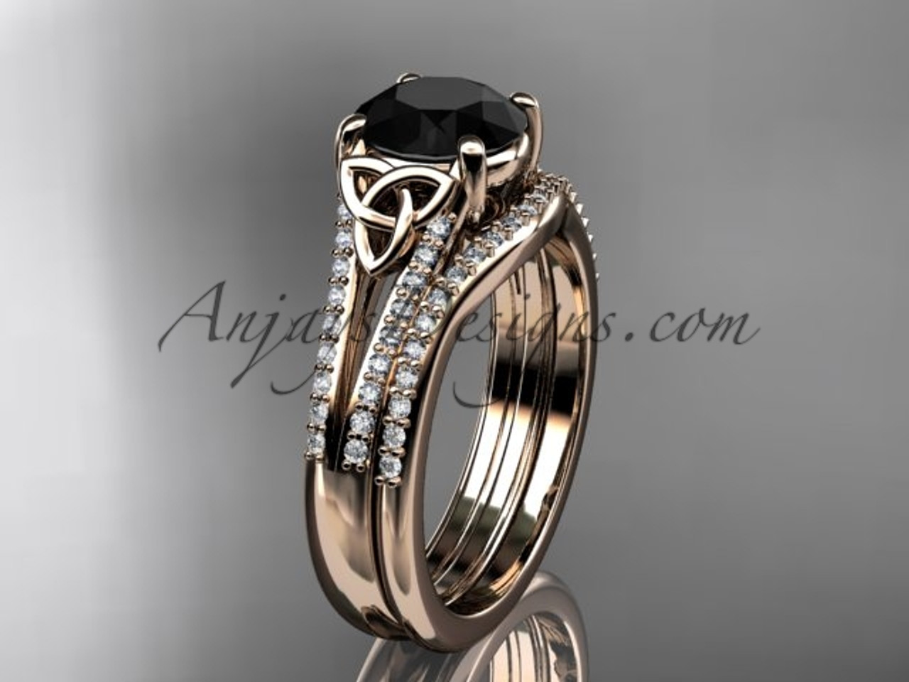 ps stone preset engagement black a white pid butterfly gold diamond and bd ring rings wedding