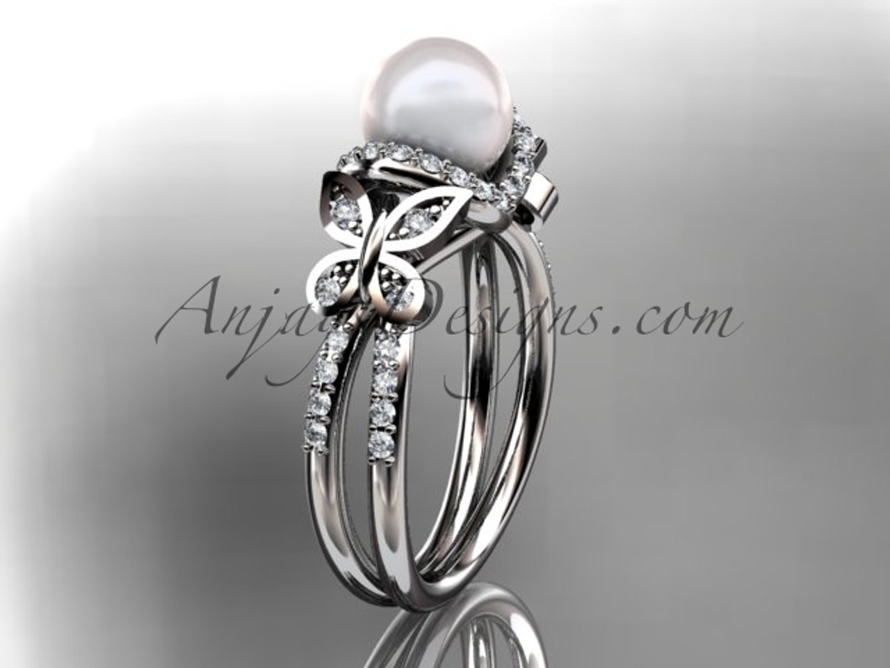 butterfly wedding ring AP141   AnjaysDesigns.com