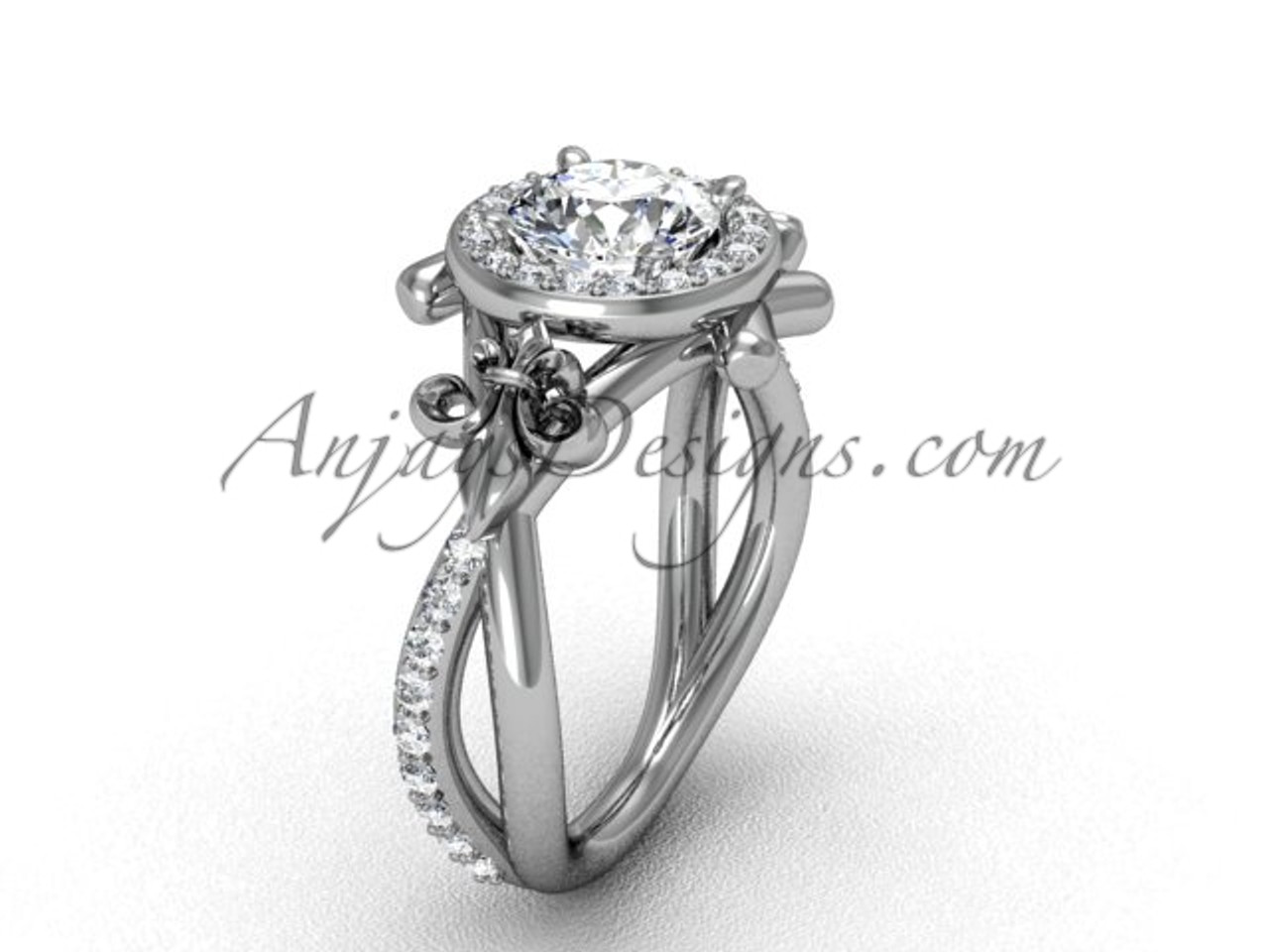 engagement three stone white halo kind jewellery ring cts of one diamond i