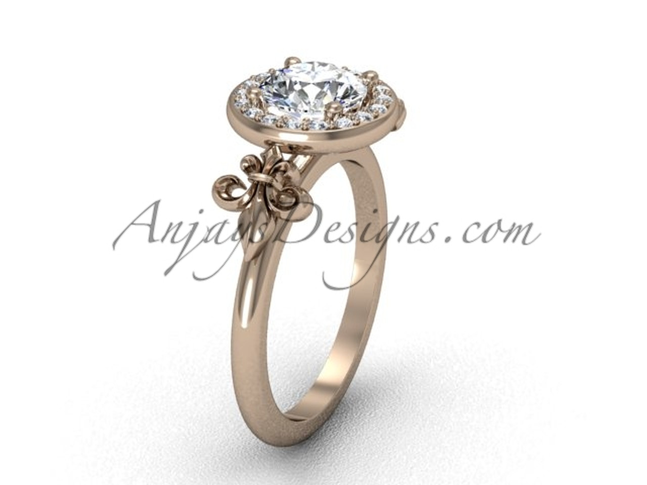one ring studio carat round featured engagement white artwork forever diamond jewellery moissanite gold