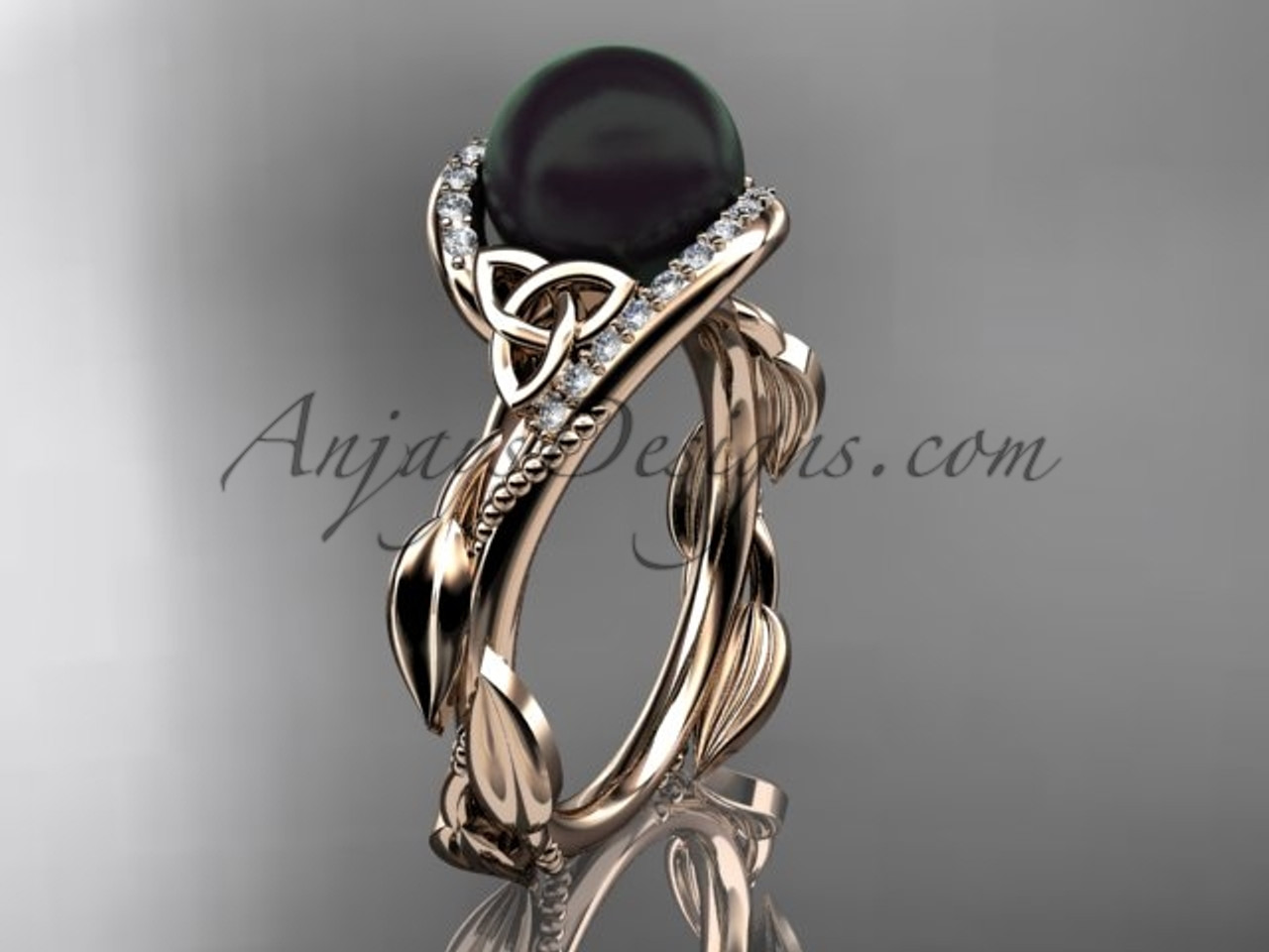 ring ribbon rings diamond engagement white tahitian gold pearl sparta black green